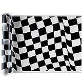 Chal - Chemin de table F1 damiers noir et blanc x 5 métres