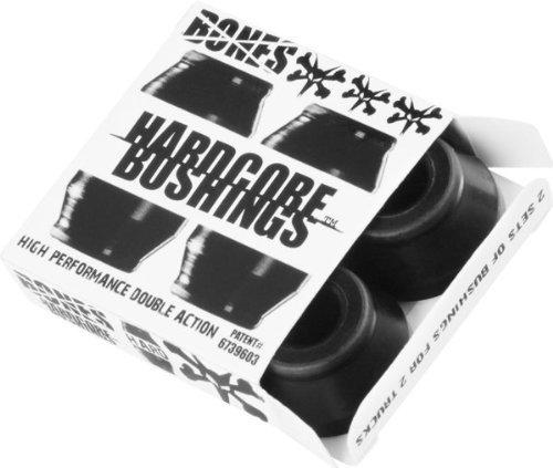 Bones Hardcore 4pc Hard Black Black Bushings Skateboard Bushings by Bones Wheels & Bearings (Bones-bushings)