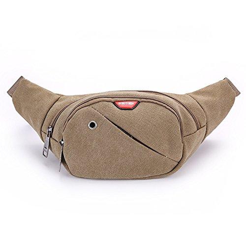 ZYT Trend der personalisierten Leinwand Geldbörse Geldbörsen Schulter Taschen außen Breitensport Reiten Khaki