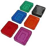 Assecure Skin/Pro Aufbewahrungsbox Transporttasche für 6 sd, sdhc, mmc-Karte von Micro-sd-Speicherkarte, Farbe: multi