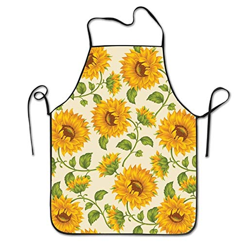 Zhangshpoing Yellow Sunflowers Fun Intended for Unisex Kitchen Apron Short Resists Terry Cloth - Mädchen Terry Shorts