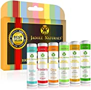 Jadole Naturals Moisturizing Lip Balm 100% Natural Beeswax with Vitamin E & Peppermint Oil - 6 T