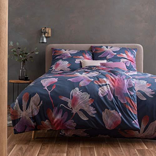 ESTELLA Mako Interlock Jersey Bettwäsche Kimi Nachtblau 1 Bettbezug 135x200 cm + 1 Kissenbezug 80x80 cm