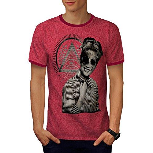Illuminati Horror Mode Illuminati Herren S Ringer T-shirt   Wellcoda (T-shirt Bild Ringer)