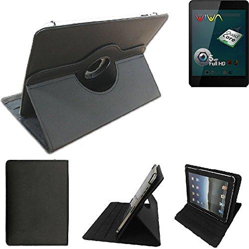 K-S-Trade Allview Viva Q8 Schutz Hülle 360° Tablet Case Schutzhülle Flip Cover für Allview Viva Q8, schwarz. Tablet Hülle drehbar Standfunktion Ultra Slim Bookstyle Tasche Kunstleder Qualitätsware
