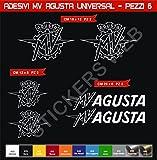 Adesivi stickers MV AGUSTA Universal kit 08 Pezzi -SCEGLI COLORE- moto motorbike Cod.0581 (Bianco cod. 010)