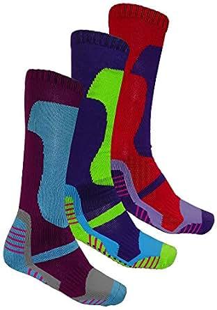 3 paires de chaussettes hautes de ski thermiques amazon. Black Bedroom Furniture Sets. Home Design Ideas