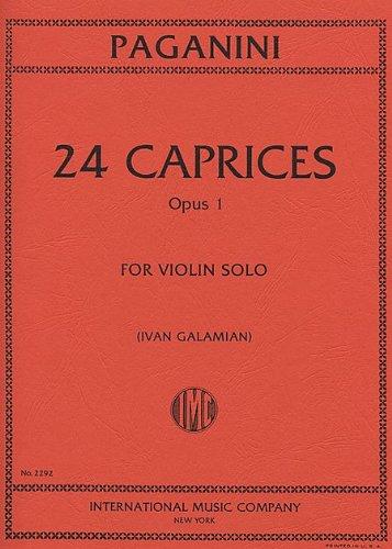 PAGANINI - Caprichos Op.1 (24) para Violin (Galamian)