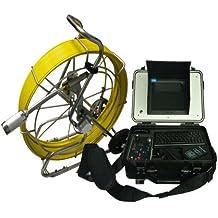 mabelstar 50mm CCD autonivelación 60m cable Alcantarillado de tubo cámara de inspección con 512hz transmisor y meter Counter