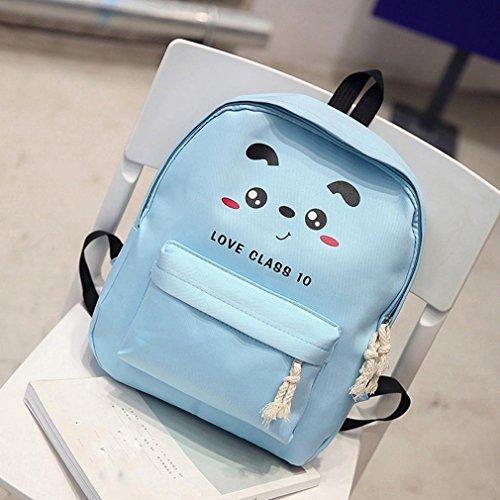 BZLine® Baby Jungen Mädchen Cartoon Zipper Rucksack Fashion Umhängetasche Rucksack Blau 2