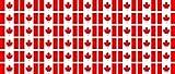 Mini Fahnen / Flaggen Set glatt - 20x12mm - selbstklebender Aufkleber - Kanada - Sticker fürs Büro, Schule und zu Hause - 54 Stück