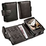 TUFF LUV Genuine Western Leather Case Cover for Cowon Plenue D - MP3 - Noir