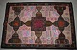 Tribal Asian Textiles Vintage Antik Wandbehang Bestickt Home Decor Patchwork Handarbeit 09