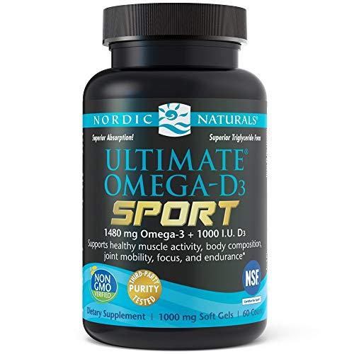 Nordic Naturals Ultimate Omega-D3 Sport Softgels, 1480 mg, 60 Kapseln