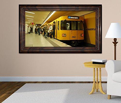 3D Wandtattoo Metro Station Zug Bahn Berlin selbstklebend Wandbild Tattoo Wohnzimmer Wand Aufkleber 11M664