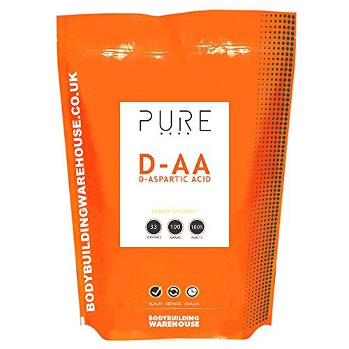 Bodybuilding Warehouse Puro acido D-aspartico (DAA) Polvere - 100g