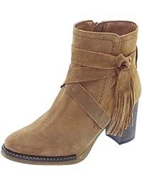 Angelina® Felina Bottines A Franges Déco Bout Rond Et Talon Marque  Chaussures Femme Fabriquée Espagne 092547ec80d1
