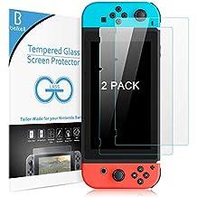 Beikell Nintendo Switch Protector Pantalla, [2 Pack] Nintendo Switch 2017 Protector de Pantalla Vidrio Templado Premium, Dureza 9H Alta Definicion Anti-rasguños Colocación Fácil con Kit de Limpieza