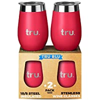 Outdoor Vacuum Insulated Wine Tumblers with Lids (Set of 2), Stainless Steel Glasses 350ml - Double Wall Stemless Metal Cup - Travel, Camping, Lightweight, Unbreakable, Portable, BPA Free 7