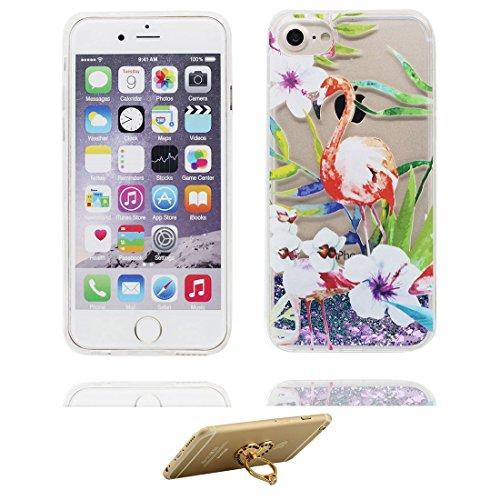 "Coque iPhone 6 Plus, iPhone 6s Plus étui Cover (5.5""), Bling Glitter Fluide Liquide Sparkles Sables iPhone 6 Plus Case (5.5""), Shell anti- chocs- (Bling Bling) et ring Support # 1"