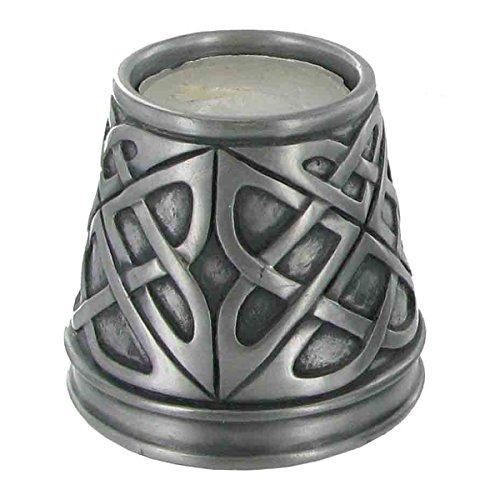 Celtic Candle Holder-cast freddo argento-h6.5cm (grande)