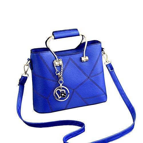 Flada, Borsa a tracolla donna turchese Claret medium Blue