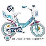 51kbiHXDoFL. SS150 Frozen, bicicletta da bambina, motivo: Frozen – 35,6 cm + casco incluso.
