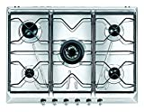 Smeg SRV576-5 Built-in Gas Stainless steel hob - Hobs (Built-in, Gas, Stainless steel, 5000 W, Rotary, 700 mm)