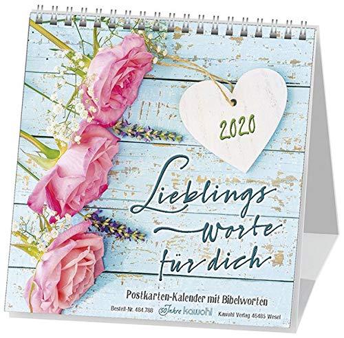 Lieblingsworte für dich 2020: Postkartenkalender mit Bibelworten