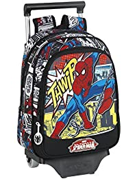 Marvel Spider-Man Ultimate Mochila escolar, 34 cm, Negro