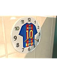 Equipos de la Liga de Campeones de la UEFA–Equipo de Fútbol Kit–Relojes de pared Cualquier nombre, cualquier número, Cualquier., hombre mujer Infantil, BARCELONA FC FOOTBALL TEAM