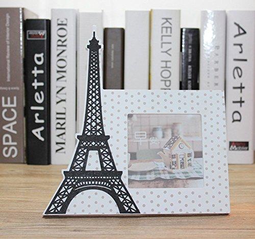 CHEZMAX Paris Handtuch Edle Wand-Kleiderbügel Home Decor Tabletop Wohnzimmer Portraitrahmen Rechteck Herz Bilderrahmen Muster 1