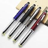SONGJUAN Multicolor-Kugelschreiber Metall-Kondensator-Kopf Touch-Stift Lampe Stift 4 Stück Schwarz Bullet