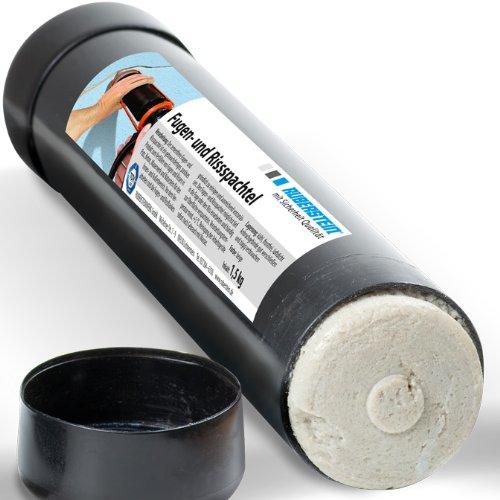 Orig. Ruberstein® Fugen- und Rissspachtel, Mörtel für Riss, 1,5kg gebrauchsfertig im Rohr für Mörtelpistole 800ml