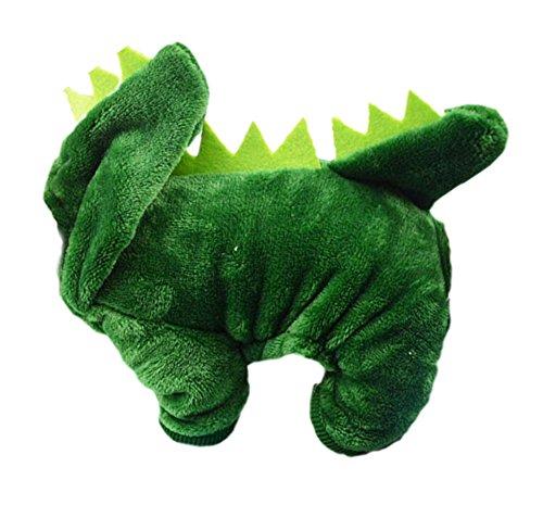 Arrowhunt Winter Warm Kleine Hunde Pullover Hunde Kostüm Dinosaurier (Grün Dinosaurier Kostüme Hund)
