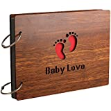 Sehaz Artworks 'Baby Love' Wood Pasted Photo Album (22 cm x 16 cm x 4 cm, Brown)