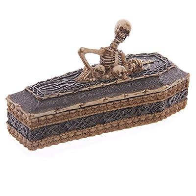 Skeleton Casket Trinket Box. Keepsake Tray. Skeleton and Coffin. Spooky, Bones.