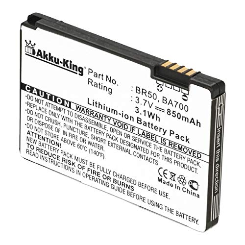 Akku-King Akku kompatibel mit Motorola BA700, BR50 - Li-Ion 850mAh - für RAZR V3, RAZR V3i, Pebl U6, Flip P (Razr Flip Handys)