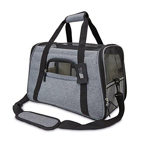 achilles®, Haustiertasche, Kleintiertasche, Hundetasche, Katzentasche, Flugtasche für Kleintiere, grau, 44 cm x 25 cm x 28 cm, AD271
