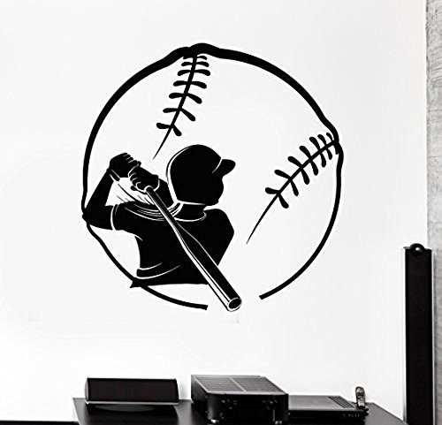 GGWW Wall Stcker Softball Player Girl Woman Vinyl Decal (Z3044)