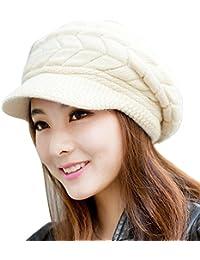 Sombreros Unisex Invierno, ❤️ Zolimx Moda Mujer Sombrero Invierno Cráneos Gorros de Punto Sombreros de Piel de Conejo Gorro