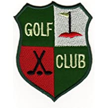 Écusson bügelbild patch iron on patchs motif insigne de club de golf sport raquette blason
