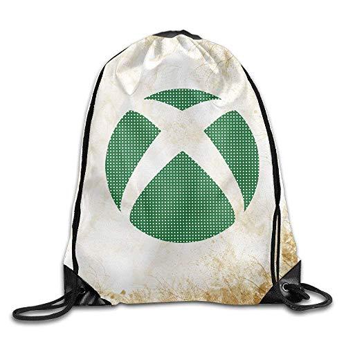 Dhrenvn Xbox Video Game Logo Training Gym Drawstring Backpack Sack Bag
