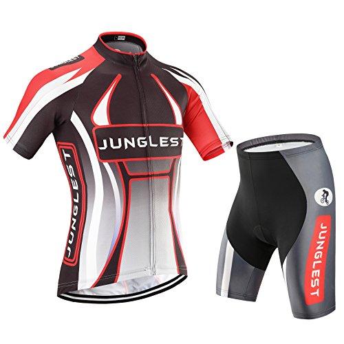 [Tamaño:S-5XL][opción:tirante,3D 2.8cm Cojín] Ropa Ciclismo Trajes Maillot manga de Mangas cortas Pantalones culotte ciclistas bicicleta ciclo Jersey al aire libre cómoda Cojín jerseys