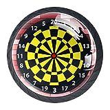 Gamma di tiro bersaglio bersaglio freccette gioco cassetto tirare maniglie armadietto tavolo comò maniglia tirare con viti 4 pezzi 3.5×2.8CM/1.38×1.10IN Multicolore10