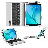 ELTD Samsung Galaxy Tab A 10.1 Tastatur, Detachable Kabellose Tastatur (QWERTZ Tastatur) mit Standfunction Für Samsung Galaxy Tab A 10.1 T580N / T585N (2016), Weiß