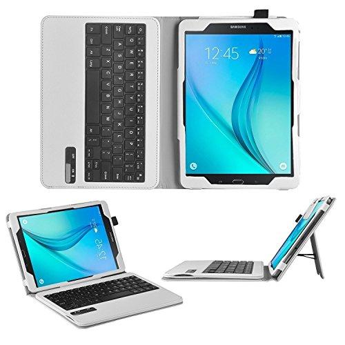 ELTD Samsung Galaxy Tab A 10.1 Tastatur, Detachable Bluetooth Tastatur (QWERTZ Tastatur) mit Standfunction Für Samsung Galaxy Tab A 10.1 T580N / T585N (2016), Weiß