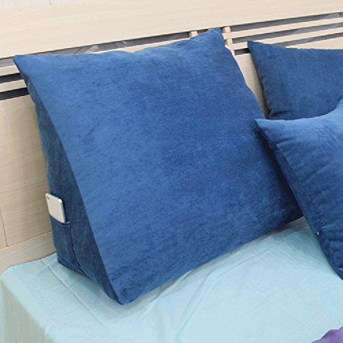 Coussin Coussin de canapé Coussin de couleur unie Coussin de taille Coussin Fond massif Dossier arrière Coussin moderne Simplicité (Couleur : 1#, taille : 50 * 50 * 20cm)