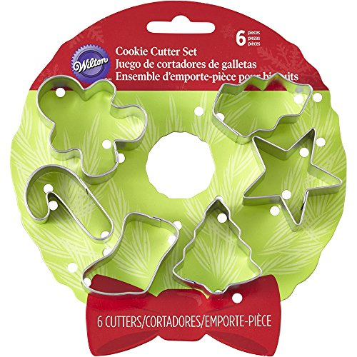 Metal Cookie Cutter Set 6pcs-Mini Assorted Christmas Metal Cookie Cutter