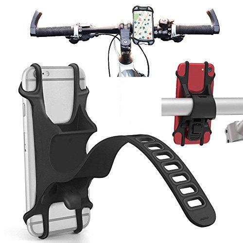 BOLION Bike Mount Universal Bike Handyhalter Bike Silikonband Halterung Halter Einstellbare Silikon Lenker Crack für iPhone X/6/7/8 Plus Samsung Galaxy S9/S8 Plus